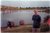 Drury & a hippo named Africa in Garoua