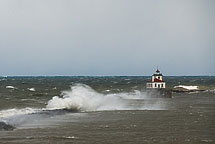 Oswego Lighthouse in a Storm