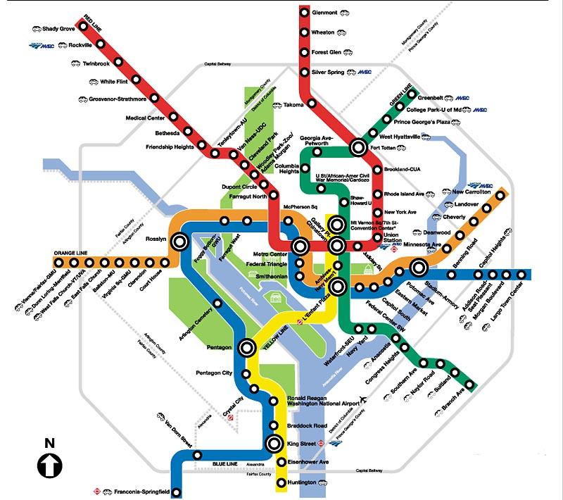 Washington DC Metro Map PDF Submited Images